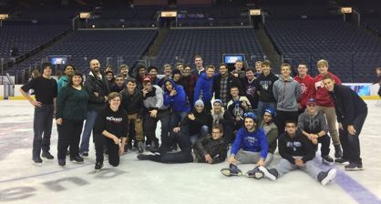 students at blue jacket arena